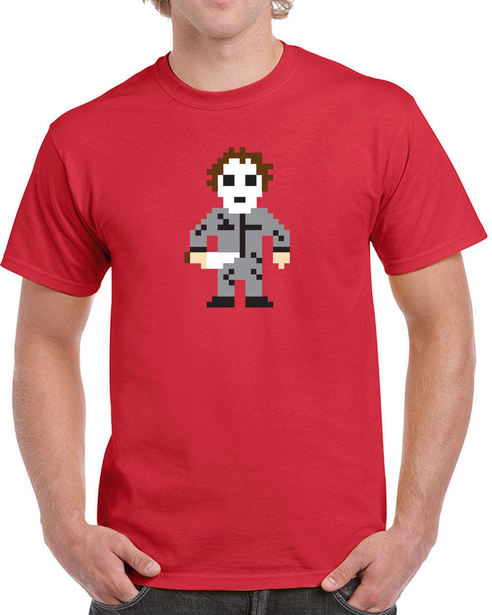 2017 Best T Shirt Websites 8 Bit Halloween Slasher 70s Funny Scary ...