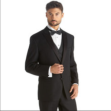 tailor suits men groom wedding tuxedo black formal high quality custom made suits 2016 3 piece suit