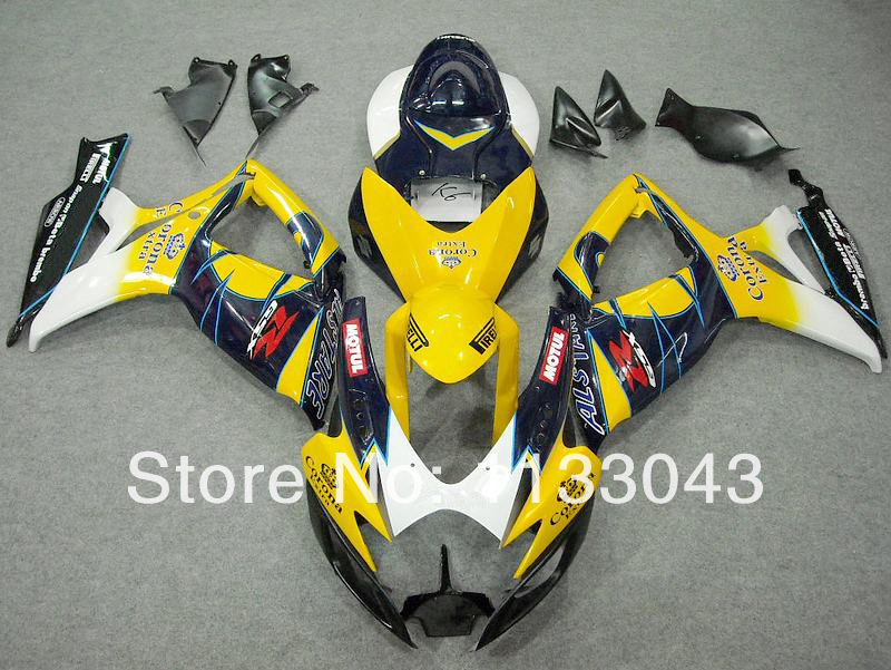 Желтый/синий Corona комплект обтекателей для SUZUKI GSXR600 750 06 07 GSXR600 750 2006 2007 GSXR600 GSXR750 GSXR600 750 K6 06 07