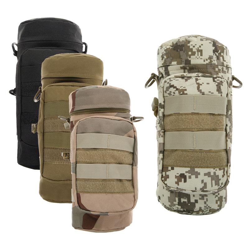 위장 남자 군사 배낭 가방 파우치 물 병 가방 파우치 병 가방 야외 하이킹 캠핑 배낭