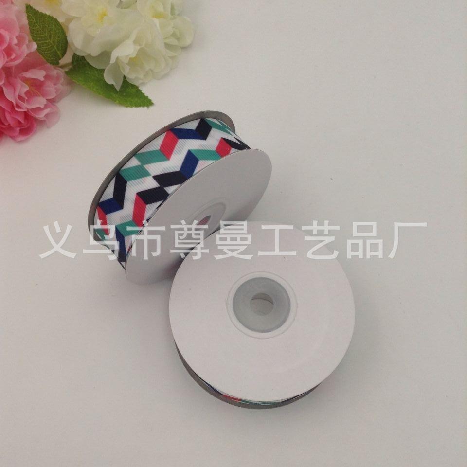 Ribbon Crafts Ribbon Clothing Material Digital Printing Sublimation Sublimation Quadrilateral Splicing Series Pattern Belt Belt