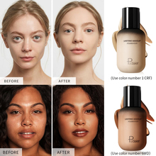 Pudaier face makeup foundation cream 40ML dark colors for black skin waterproof long lasting body base matte bb PD066