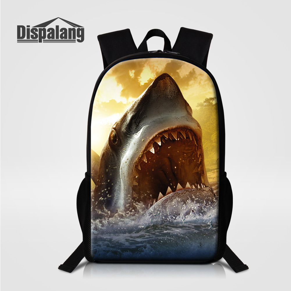 Dispalang 3D Shark Dolphin School Bags For Middle School Students Oxford Male Mochilas Escolar 16 Inch Back Pack Children Rugtas