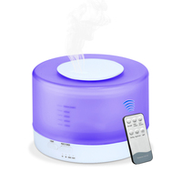 FIMEI Air Humidifier 500ML Flowerpot Oil Diffuser Ultrasonic Aromatherapy Cool Essential Mist Remote Control Tool With