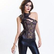 Burlesque Corset Top Shaper Sexy Bustier and Corset Lace Up Gothic Steampunk Corset Underbust Corsets Tops For Women Bodyshaper недорого