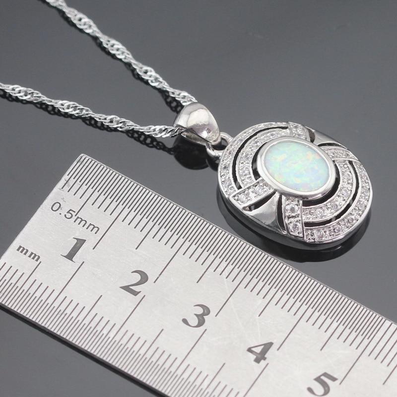 Ավստրալիա Fire White Opal արծաթագույն - Նորաձև զարդեր - Լուսանկար 3