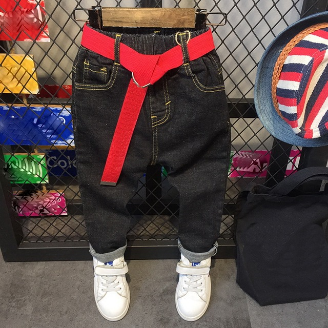 5ff32e66d Free Shipping 2018 Special Retail Kid's Pants New Spring Handsome Boys Jeans  Children Cowboy Pants 2-6