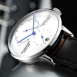 Image 4 - GUANQIN mekanik İzle erkekler İş moda otomatik saatler 316L paslanmaz çelik üst marka lüks aydınlık kol saati