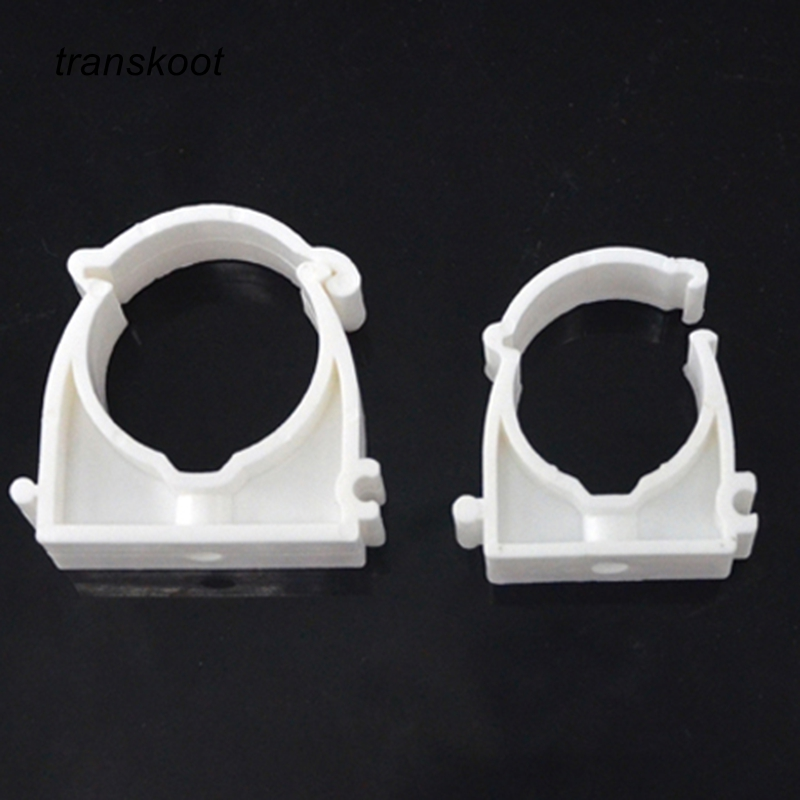 10pcs Plastic PPR Single U Clamp Holder For Water Pipe Tube With Diameter Of 16mm 20mm 25mm 32mm