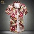 MIUK 2017 Linen Cotton Large Size Camisa Masculina 4XL 5XL Brand Clothing Short Sleeve Shirt Imported-clothing Chemise Homme