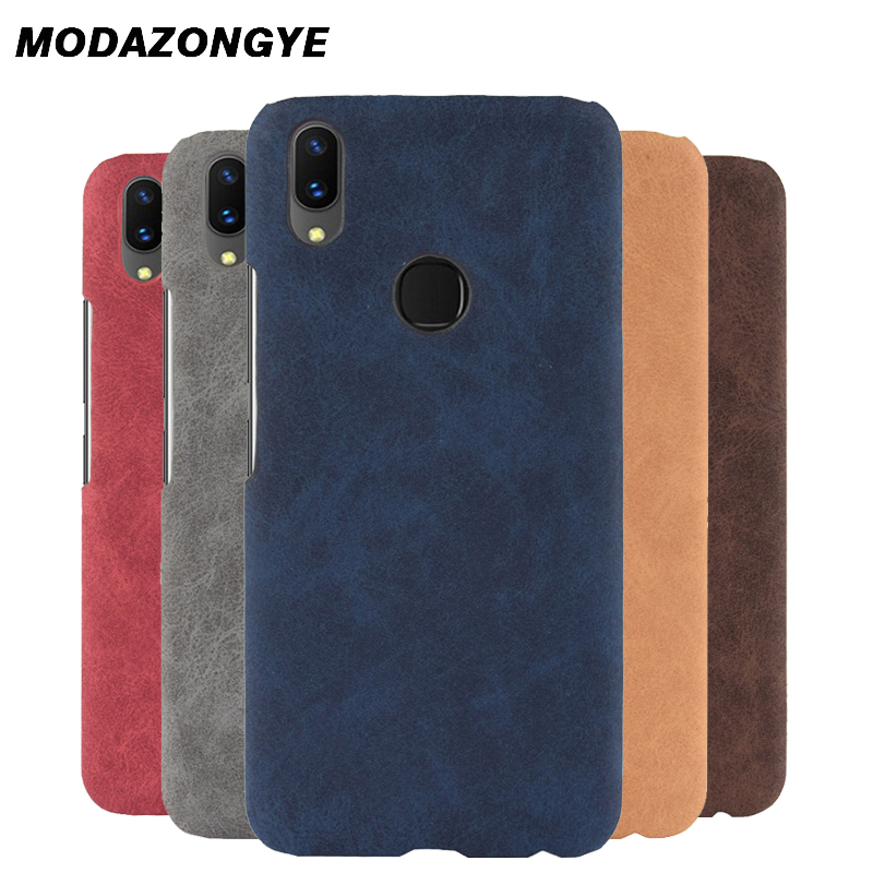 reputable site 67d47 0fd27 US $2.59 35% OFF For VIVO V9 Case VIVO V9 Case Hard Back Cover PU Leather  Phone Case For VIVO V9 YOUTH IN 1727 F1303 Case Protective Cover 6.3-in ...