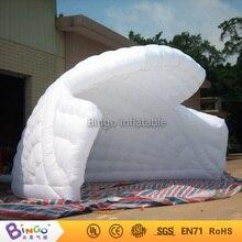 Бесплатная экспресс-6x4x3.5 метров надувные палатки специальная конструкция белого цвета взорвать Half Dome шатер для Открытый события Игрушка палатки