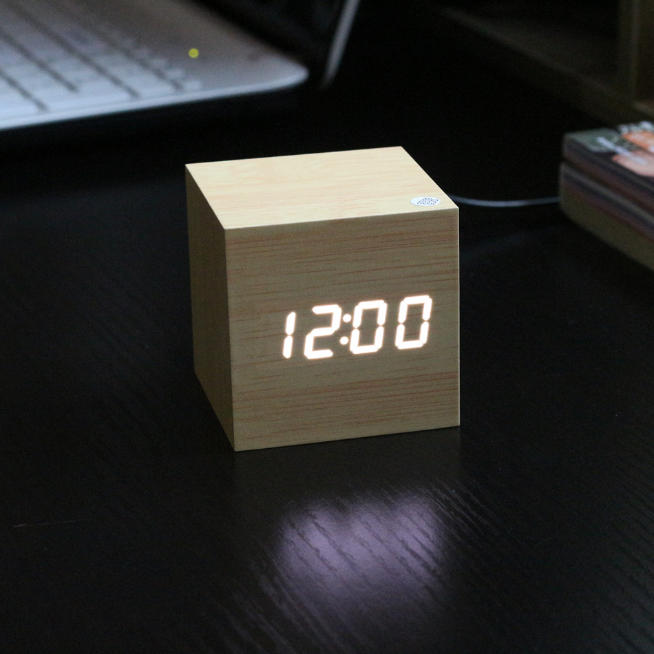 Купить с кэшбэком Antique Digital Clock LED Office Clock Vintage Retro Table Personalized Brief Art Clock Silent Watch Electronic Clock Home Decor