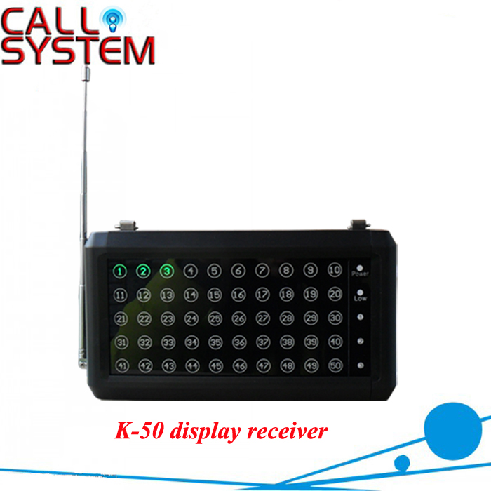 Wireless Calling Systems Number Receiver K-50 show 50 callings one time hhs6a correct time countdown intelligence number show time relay bring power failure memory ac220v