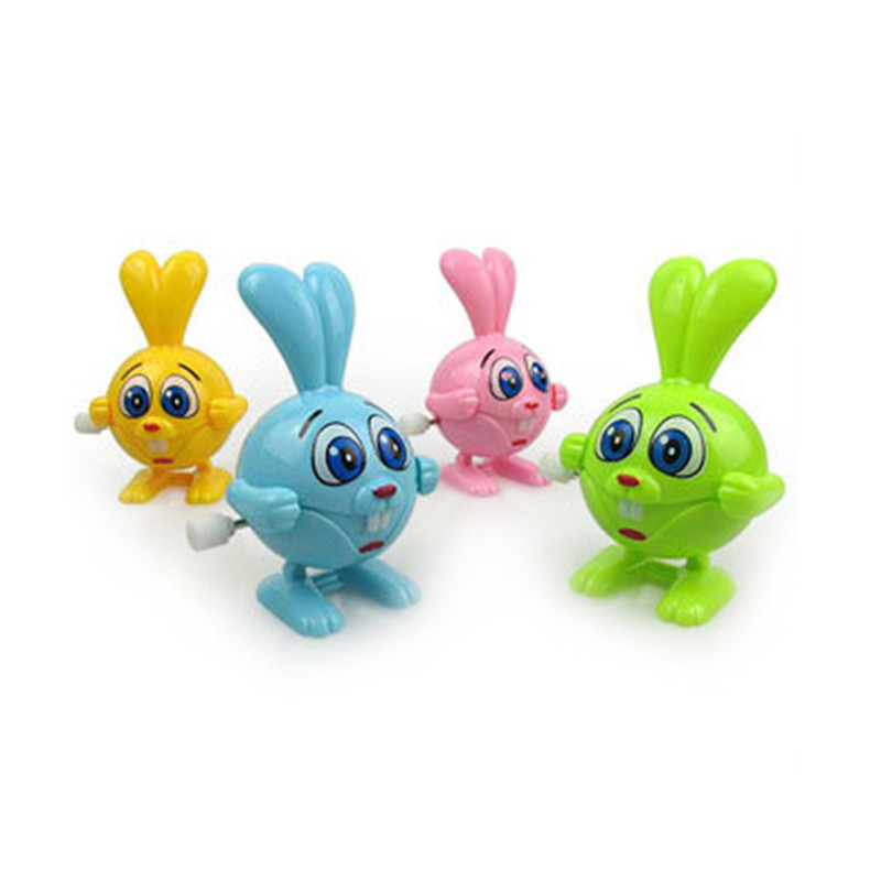 Cartoon Clockwork Wind Up Jumping Rabbit Toys Children Toys Running Swing Classic Newborn Toy Children Gift Spring Toy toy story bunny toys