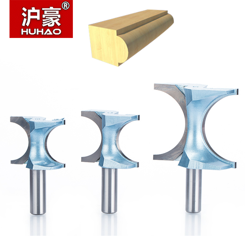 HUHAO 1pcs 1/21/4 Shank Half Round bit endmill Router Bits for wood end mill Woodworking Tool Industrial Grade milling cutter huhao 1pc 1 2 1 4 inch t type bearings wood milling cutter industrial grade rabbeting bit woodworking tool router bits for wood
