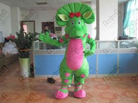 green and yellow dinosaur mascot costumes bj barney and baby bop hot sale dragon costumes