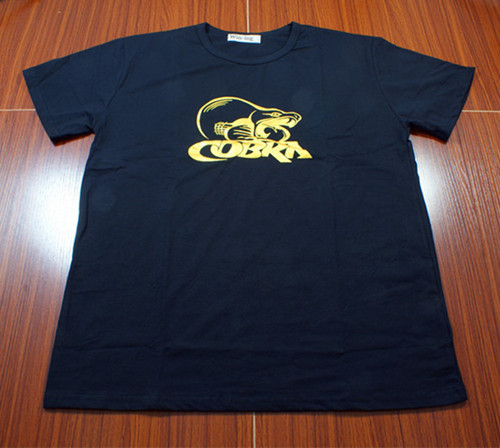 Cobra Black Golden LOGO T Shirt cobra ru935 ст black