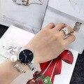 Nuevas Llegadas Señoras Simples Relojes A Prueba de agua Moda Delgada Correa de La Aleación de Cuarzo Reloj de Las Mujeres Reloj Mujer Reloj de Señora Gift 2016