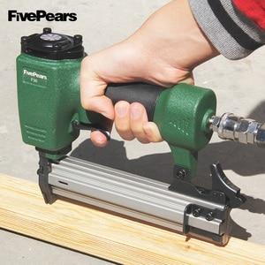 Image 5 - Pistolet cloueur pneumatique fivepoars pistolet à ongles droit agrafeuse de clouage pneumatique agrafeuse à fil de meubles F30