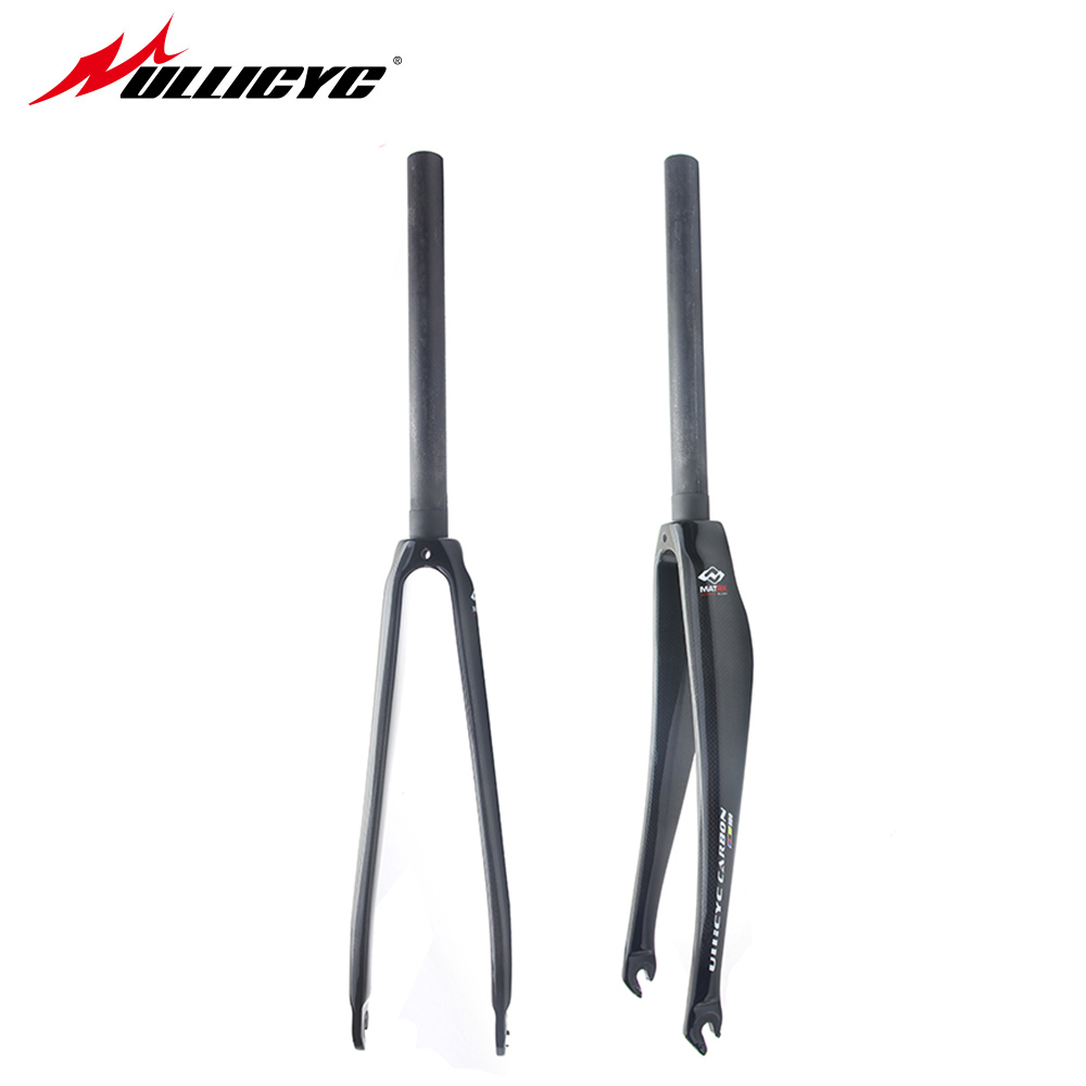 ullicyc Carbon Fork Full Carbon Fiber Road Bicycle Fork Cycling Bike Fork Bike Parts superlight fork 420g free shipping full carbon tapered road bike carbon fork ud weave bicycle parts for 700c highway tire bicicleta parts free shipping