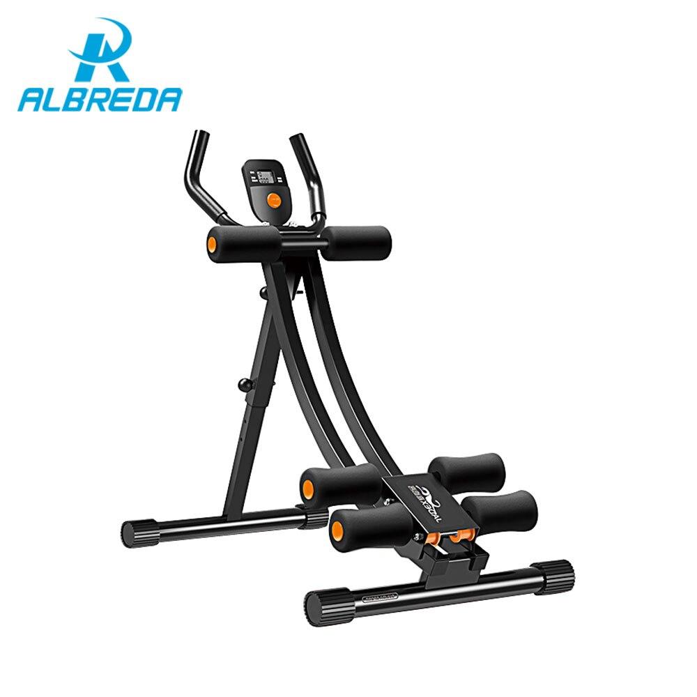 ALBREDA Machine abdominale réglable Sports équipements de gymnastique entraîneur à domicile muscles abdominaux exercice de Fitness taille mince