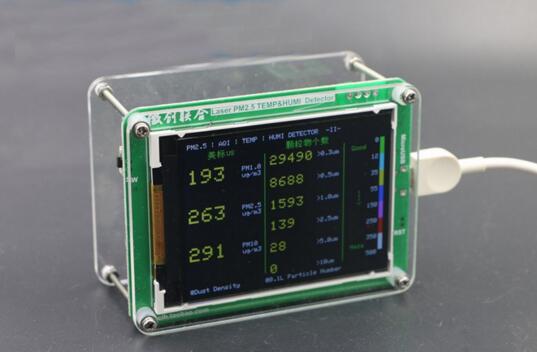 M1 partículas PM2.5 PM10 PM1.0 detector de monitoramento da qualidade do ar PM2.5 neblina de poeira Do sensor A Laser com Temperatura e umidade