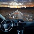 X5 3 Polegada Carro Universal HUD Cabeça Up Display OBD2 II Sistema de Alerta da Velocidade Excessiva Projetor Windshield Auto Alarme Eletrônico de Tensão