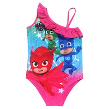 2017 New PJ Mask Cartoon princess Swimsuit kids Swimwear Summer Beach dress shirt  Girls Bikini cosplay costume