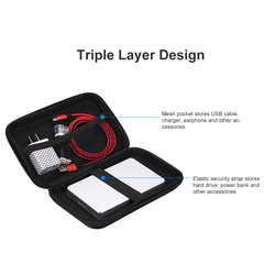 3.5 inch EVA Shockproof Hard Drive Carrying Case Pouch Bag 3.5