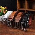 2016 New hot mens black belt pin fivela cintos de couro pu para homens famoso designer de luxo cinto cinta masculina cintura banda 110 cm W47