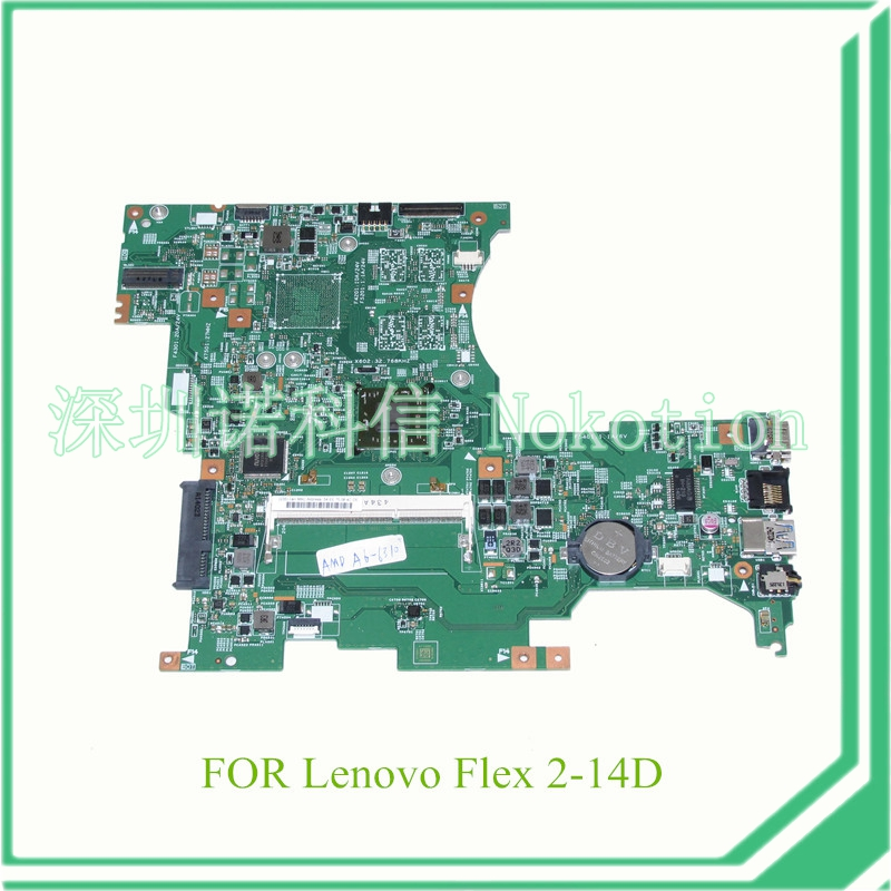 NOKOTION LF145M MB 13287-1 448.00Y02.0011 For lenovo FLEX 2-14D Laptop motherboard A6-6310 CPUNOKOTION LF145M MB 13287-1 448.00Y02.0011 For lenovo FLEX 2-14D Laptop motherboard A6-6310 CPU