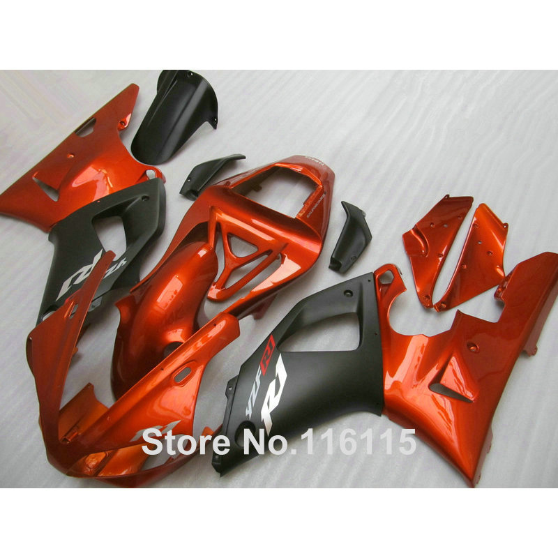 Injection molding high quality fairings set for YAMAHA YZF R1 2000 2001 matte black copper ABS fairing kit YZF-R1 00 01 TQ24 high quality abs fairing kit for yamaha r1 2002 2003 red flames in black fairings set injection molding yzf r1 02 03 yz32
