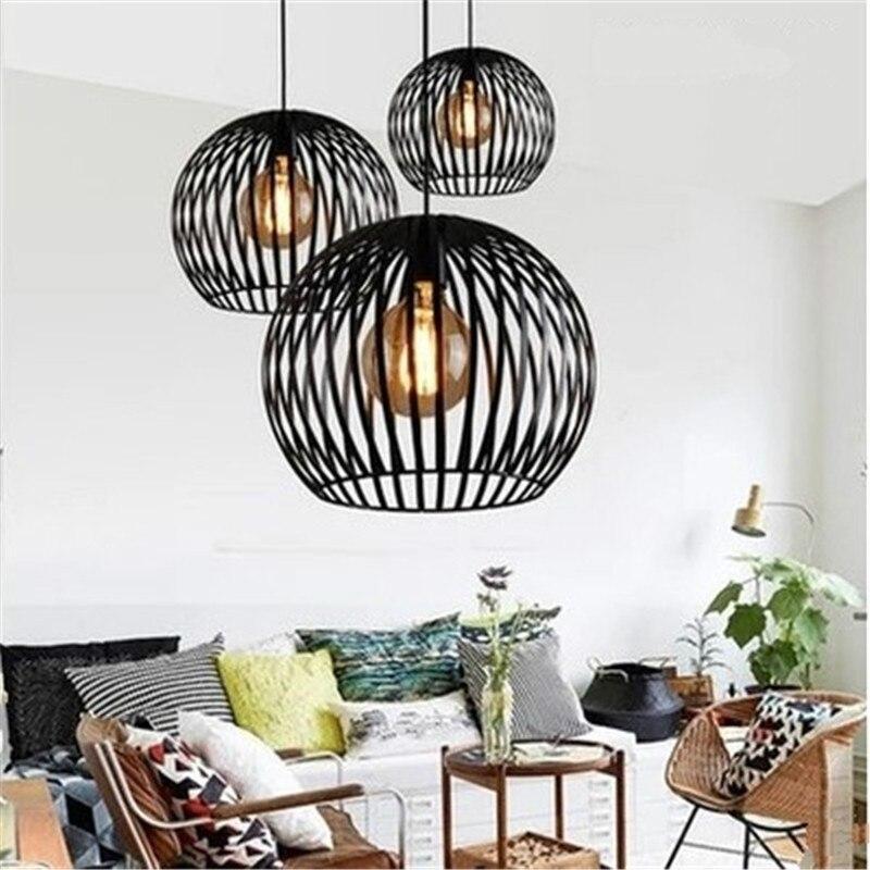 Eusolis Nordic Creatieve Art Deco Pendant Light Birdcage Pendant Lamp Decoracao Para Casa Hanging Light Industrial Lamp