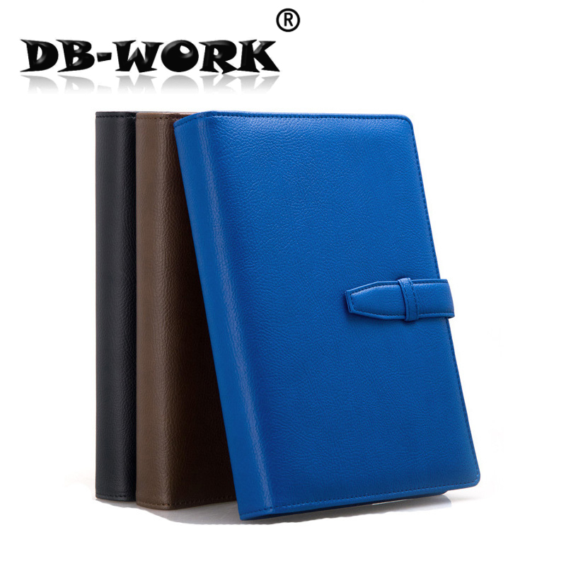 2018 A5 retro buckle loose the high-grade leather notebook business notebook diary custom stationery high quality pu cover a5 notebook journal buckle loose leaf planner diary business buckle notebook business office school gift