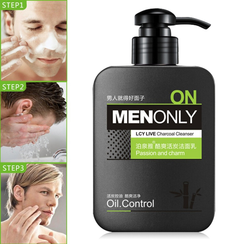 Men Deep Cleansing Facial Cleanser Face Acne Treatment Oil Control Moisturizing Whitening Skin Care 168g