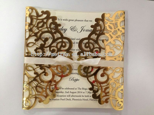 Awesome Wholesale Blank Wedding Invitations,wholesale Metallic Gold Wedding  Invitations