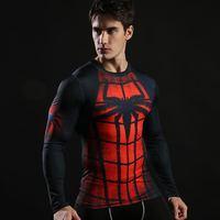 Dragon Ball T-Shirt Da Uomo 3D Stampato Spiderman T-Shirt Compressione Fitness Camisetas 2017 Blck Manica Lunga BIANYILONG