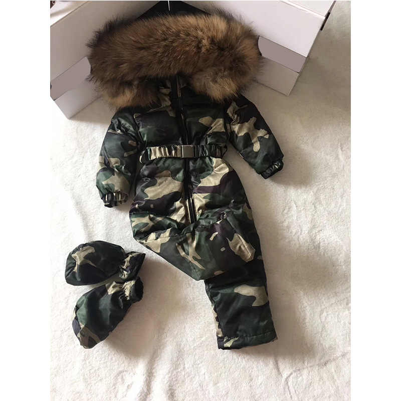 الأطفال الشتاء المولود الجديد رومبير وزرة طفل الملابس الشتوية الرضع طفل الملابس الفتيان بذلة الشتاء الثلوج دعوى 0- 3 Y