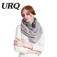 Long Fashion Winter Ring Scarf For Women Loop Tube Scarves Circle Tartan Varm Thick Solid Print