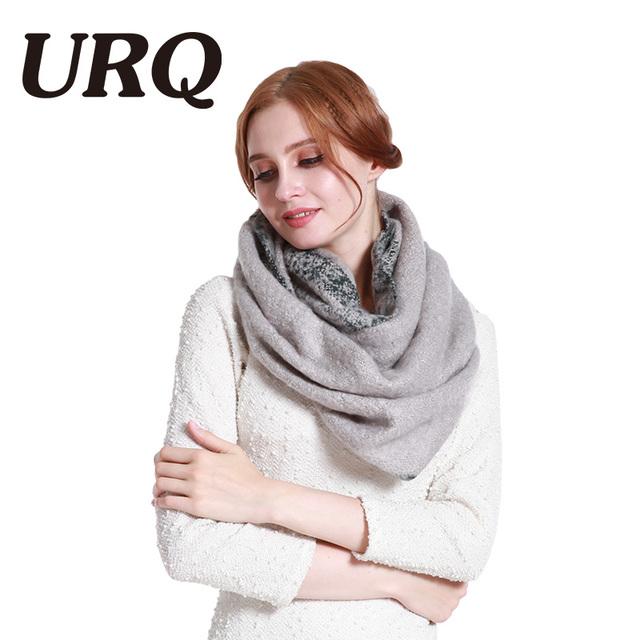 long fashion winter ring scarf for women loop tube scarves circle tartan varm thick solid print Arylic 2017 new shawl