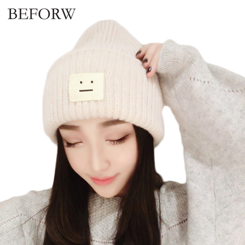 BEFORW 2017 Fashion Winter Hat For Women Snow Hat Woolen Ball Cap Pom Poms Girls Hat Keep Warm Winter Hat Knitted Beanie Caps llama and pom poms snow jackets p