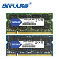 Binful 4GB (2x2 GB) DDR2 2GB 800MHZ 667MHZ 200pin portátil ram de memoria 2x de doble canal PC2-6400 PC2-5300 portátil SODIMM ram 1,8 v