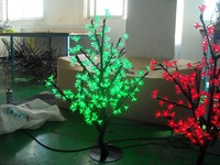 Free ship LED Artificial Cherry Blossom Tree Home Wedding Christmas Decoration 200 LEDs 31.5=80cm Green /RED Color waterproof
