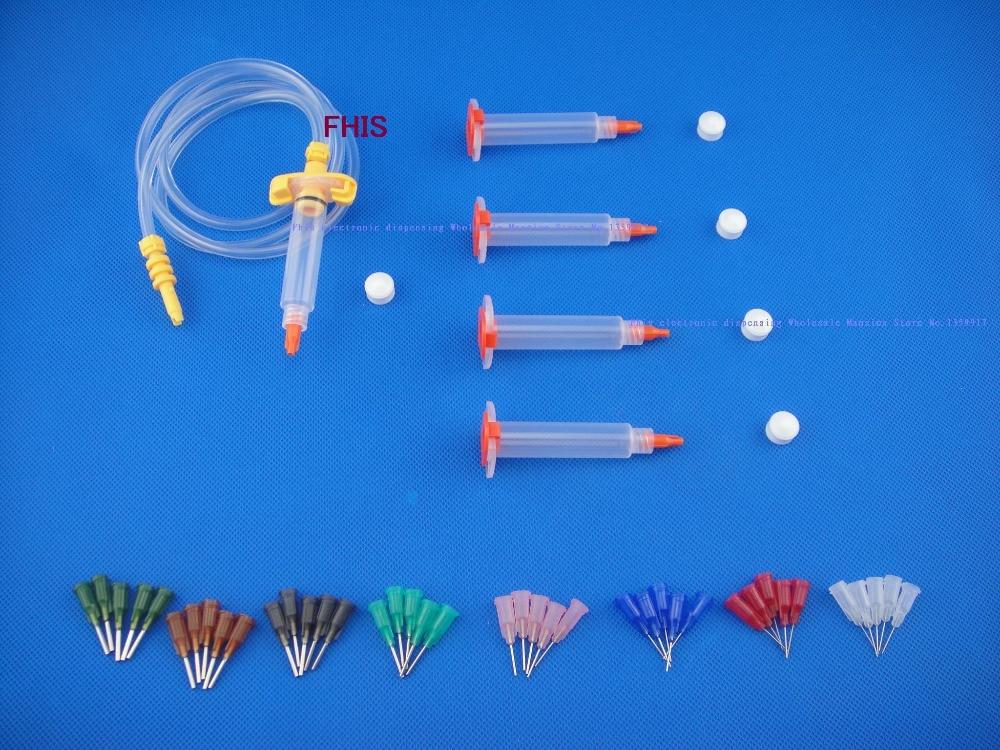 5CC Syringe  Solder Paste Adhesive Glue Liquid Dispenser &Dispensing Needle Tip стоимость