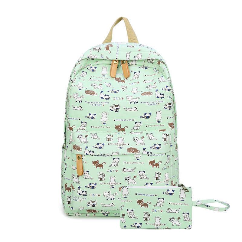 Модные школьные рюкзаки для девочек-подростков холст Для женщин ноутбук рюкзак женский милый Японии и корейский стиль рюкзак дорожные сумки