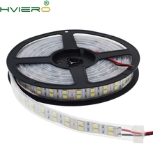 цена на 5050 SMD 120 led/m white warm white 600 led Double row strip light Waterproof ip67 double density 5 meters 12v DC 5M Bar light