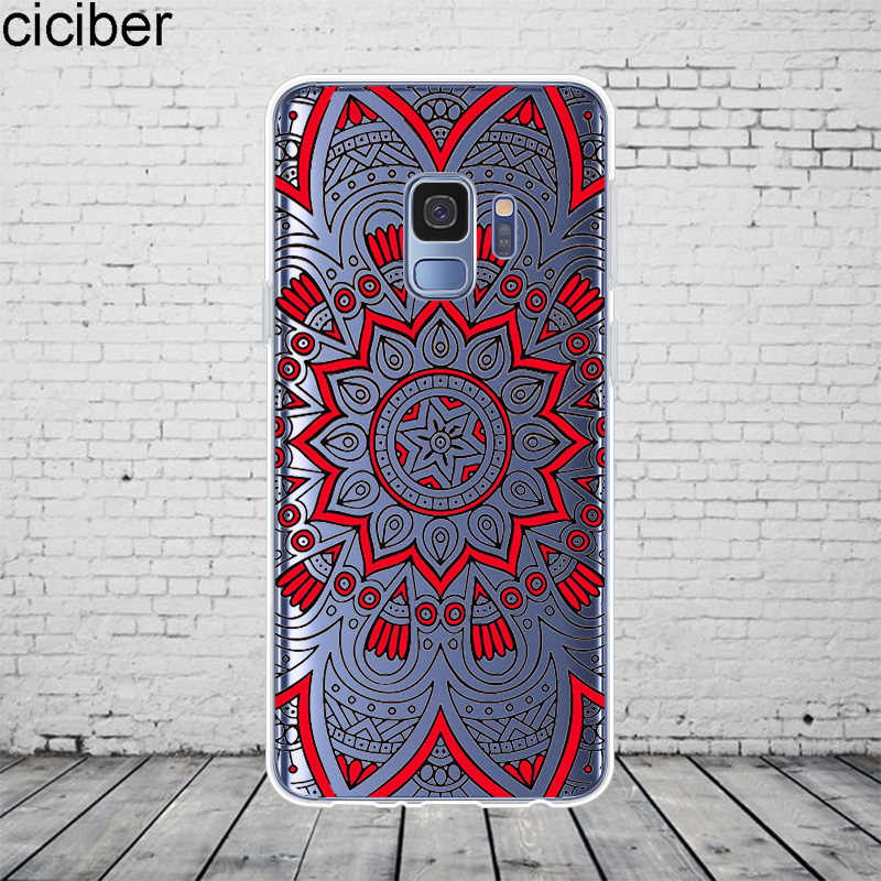 ciciber Perris Flower Coque For Samsung Galaxy S 6 7 8 9 Edge Plus Phone Cases For Galaxy Note 3 4 5 8 9 10 Plus Cover Soft TPU