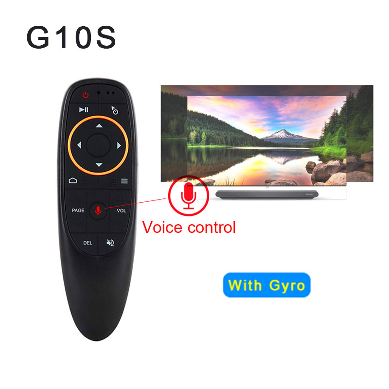 G10 Air Mouse Control de voz inalámbrica de 2,4 GHz con Gyro de juego control de voz inteligente de Control remoto para Android TV caja