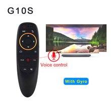 G10 Air mouse Голосовое управление 2,4 ГГц беспроводной с гиродатчик игра Голосовое управление умный пульт дистанционного управления для Android tv BOX